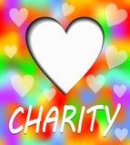 Cartel de la caridad Corazón con la sombra interna En corazón puede ser poseer el texto o el mensaje stock de ilustración