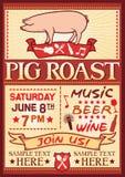 Cartel de la carne asada del cerdo Imagen de archivo libre de regalías