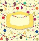 Cartel de la celebración del cumpleaños Ideal para la tarjeta del club Fotografía de archivo libre de regalías