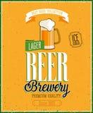 Cartel de la cervecería de la cerveza del vintage. Imagen de archivo libre de regalías
