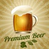 Cartel de la cerveza Foto de archivo libre de regalías