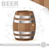 Cartel de la cerveza Fotografía de archivo libre de regalías