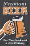 Cartel de la cerveza de la cervecería del vintage - ejemplo del vector de la pizarra ilustración del vector