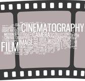 Cartel de la cinematografía Fotografía de archivo