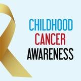 Cartel de la conciencia del día del cáncer de la niñez del mundo Fotos de archivo libres de regalías