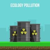 Cartel de la contaminación ambiental Fotografía de archivo