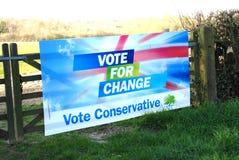 Cartel de la elección del partido conservador imagen de archivo