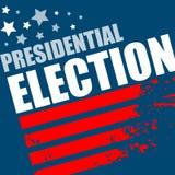 Cartel de la elección presidencial de los 2016 E.E.U.U. Ilustración del vector Fotografía de archivo