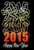 Cartel de la estrella de la Feliz Año Nuevo Imágenes de archivo libres de regalías