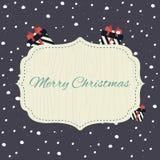Cartel de la Feliz Navidad Fotografía de archivo libre de regalías