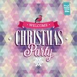 Cartel de la fiesta de Navidad Foto de archivo libre de regalías
