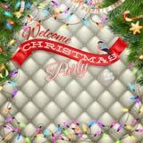 Cartel de la fiesta de Navidad EPS 10 Imagenes de archivo