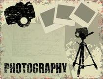 Cartel de la fotografía de la vendimia Foto de archivo libre de regalías