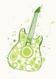 Cartel de la guitarra de la roca de la primavera Fotografía de archivo