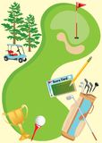 Cartel de la invitación del golf. Imagen de archivo libre de regalías
