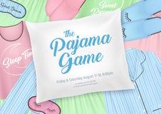 Cartel de la invitación del partido de pijama stock de ilustración