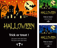 Cartel de la invitación de Halloween o ejemplo de la tarjeta Foto de archivo libre de regalías