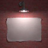 Cartel de la lámpara Imágenes de archivo libres de regalías
