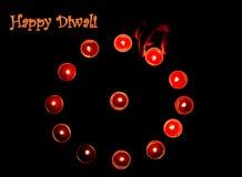 Cartel de la lámpara de Diwali Foto de archivo