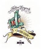 Cartel de la leyenda del tatuaje Fotos de archivo