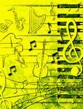 Cartel de la música Imágenes de archivo libres de regalías