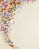 Cartel de la música Fotografía de archivo libre de regalías