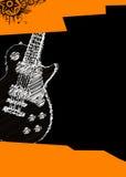 Cartel de la música con la guitarra Fotografía de archivo libre de regalías