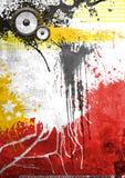 Cartel de la música de la pintada de Grunge ilustración del vector