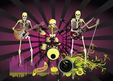 Cartel de la música; Esqueleto Imagen de archivo