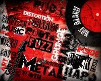 Cartel de la música rock stock de ilustración
