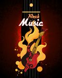 cartel de la música rock Imágenes de archivo libres de regalías