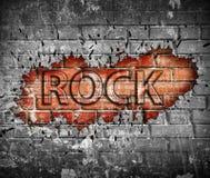 Cartel de la música rock del Grunge foto de archivo libre de regalías