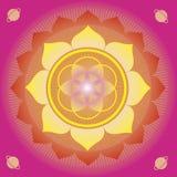 Cartel de la magia del germen de flor de la vida Foto de archivo libre de regalías