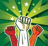 Cartel de la mano de la revolución Imagen de archivo