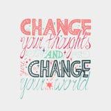 Cartel de la motivación de las letras Imagenes de archivo