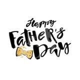 Cartel de la motivación de las letras de la mano del concepto del día de padres stock de ilustración