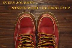 Cartel de la motivación del viaje en estilo retro Fotos de archivo