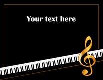 Cartel de la música Imagen de archivo
