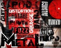 Cartel de la música rock Imagen de archivo