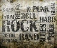 Cartel de la música rock Imagen de archivo libre de regalías