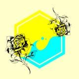 Cartel de la muestra de Rose libre illustration