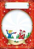 Cartel de la Navidad Imagen de archivo libre de regalías