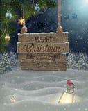 Cartel de la Navidad. ilustración del vector