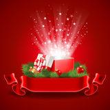 Cartel de la Navidad stock de ilustración