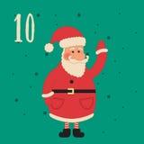Cartel de la Navidad La Navidad colorida Advent Calendar Fotografía de archivo libre de regalías