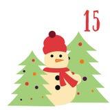 Cartel de la Navidad La Navidad colorida Advent Calendar Cuenta descendiente a la Navidad 15 Fotos de archivo libres de regalías