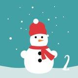 Cartel de la Navidad La Navidad colorida Advent Calendar Cuenta descendiente a la Navidad 2 Fotografía de archivo