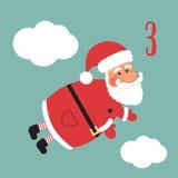 Cartel de la Navidad La Navidad colorida Advent Calendar Cuenta descendiente a la Navidad 3 Fotografía de archivo