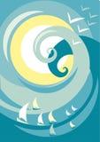 Cartel de la onda Fotografía de archivo