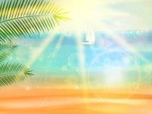 Cartel de la opinión de la playa. ilustración del vector